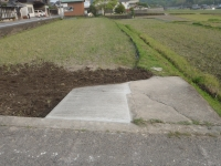田の出入り口改修